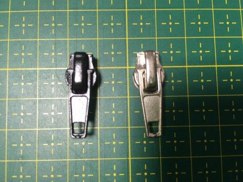 jezdec jednostranný spir.zip 5mm černý/nikl