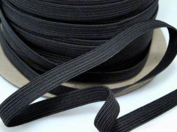 guma prádlová plochá š.20mm černá