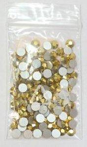 4mm nalep.kamínky broušené crystal aurum =  zlaté MC