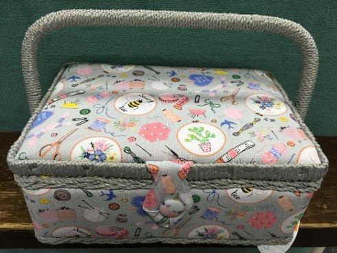 košík na šicí potřeby homemade S