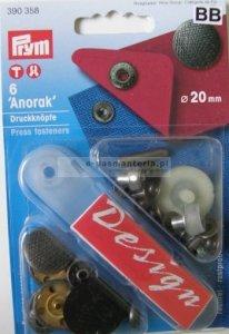 druk stiskací-Anorak 20mm 6ks