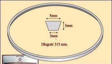 řemen klínový 5x3x315mm VERITAS ORIGINAL