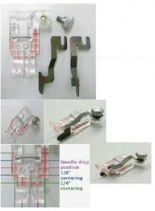 Průhledná quiltovací patka s vodičem - set