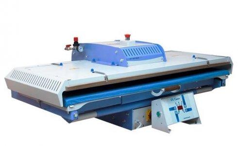 průmyslový žehlící lis PLT/1250 125x50 pneumatické automatické ovládání