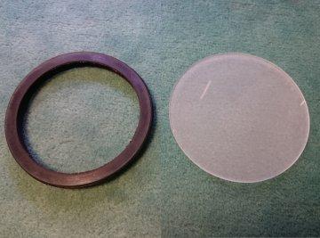 náhradní sklíčko s gumou k halogenovým lampám