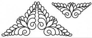 šablona pro quilt - křídla