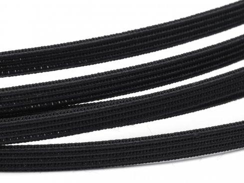 kostice prošívací ozdobná šíře 6mm černá