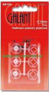 patentky plastové našívací 13mm/3ks