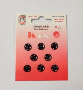 patentky kin vel.2 8ks/karta 10mm černé