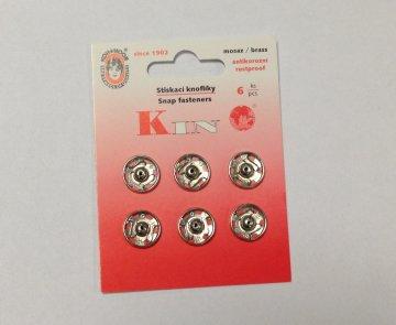 patentky nikl KIN v.5 6ks/balení 13mm