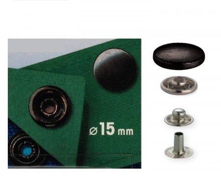 druk stiskaci-AM/CAMP 15mm-černěný hladký mat 10ks