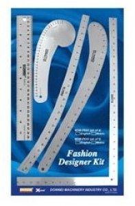 set pravítek pro návrháře textilu