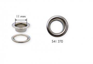 stříbrná průchodka s podložkou 11x5mm-10ks
