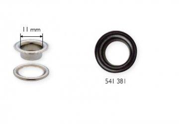 černá průchodka s podložkou 11x5mm-100ks