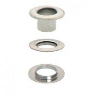 stříbrná průchodka s podložkou 5mm-1ks