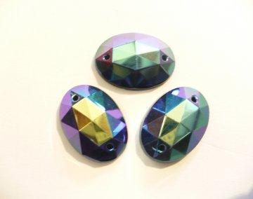 štrasové kameny perleťové - 3ks fi.