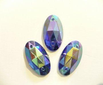 štrasové kameny perleťové - 3ks m.