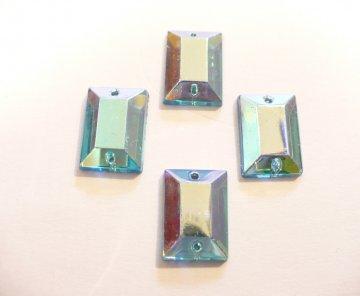 štrasové kameny tyrkysové AB 4ks 14x10mm