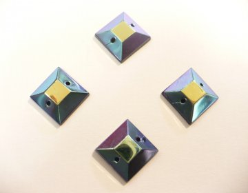 štrasové kameny čtverec AB 4ks