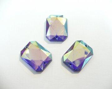 štrasové kameny perleťové tyrkys3ks