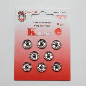 Knoflík stiskací přišívací KIN v.4 8ks/karta