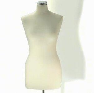 aranžérská panna bílá vel.38 s kovovým stojanem