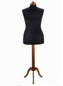 aranžérská panna černá vel.46 + dřevěný stojan