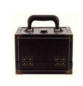 kožený kufr na pomůcky pro patchwork